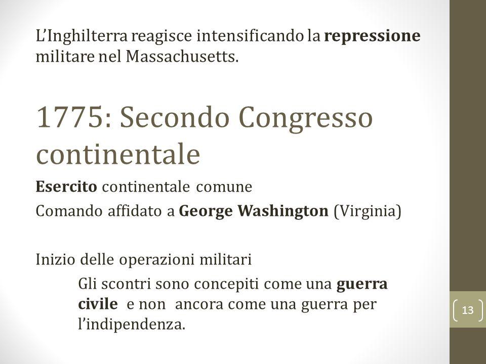 1775: Secondo Congresso continentale