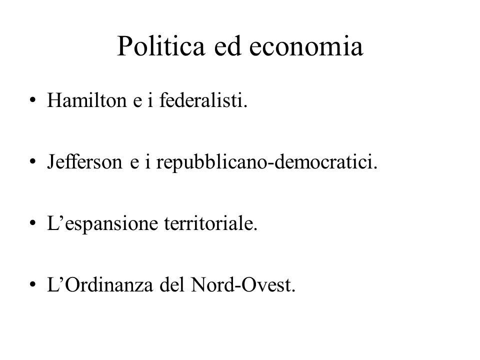 Politica ed economia Hamilton e i federalisti.