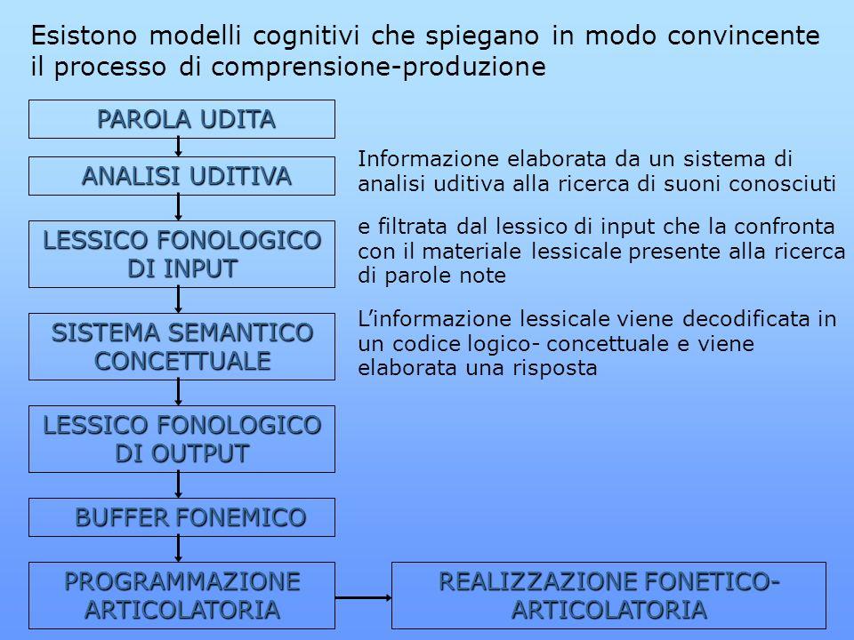 Esistono modelli cognitivi che spiegano in modo convincente il processo di comprensione-produzione