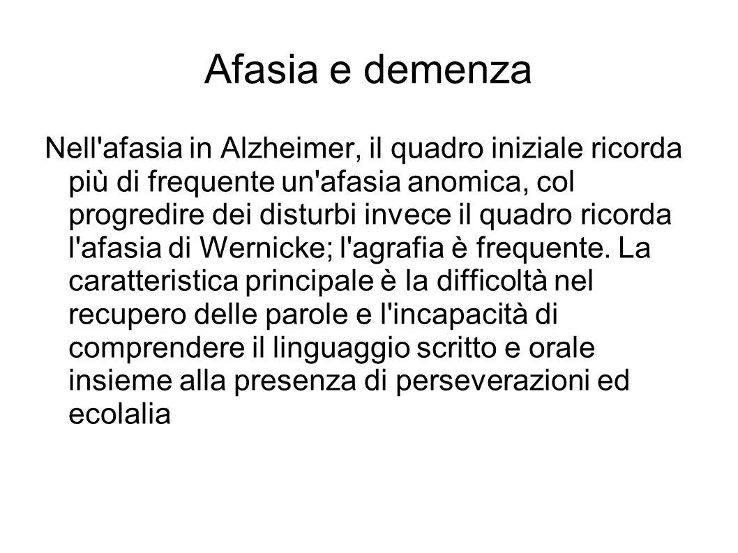 Afasia e demenza