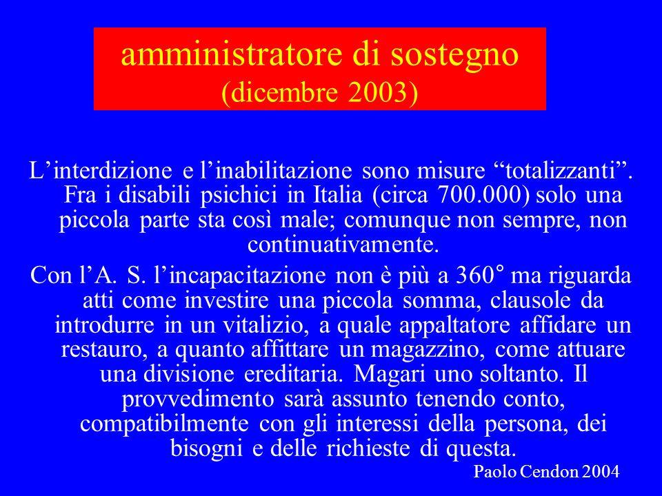 amministratore di sostegno (dicembre 2003)