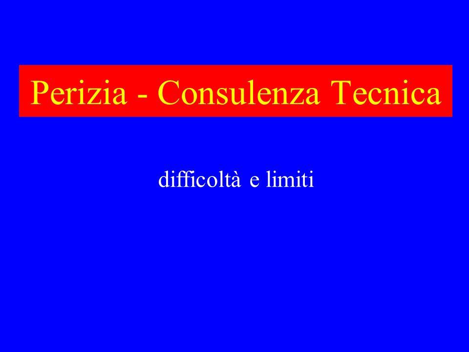 Perizia - Consulenza Tecnica