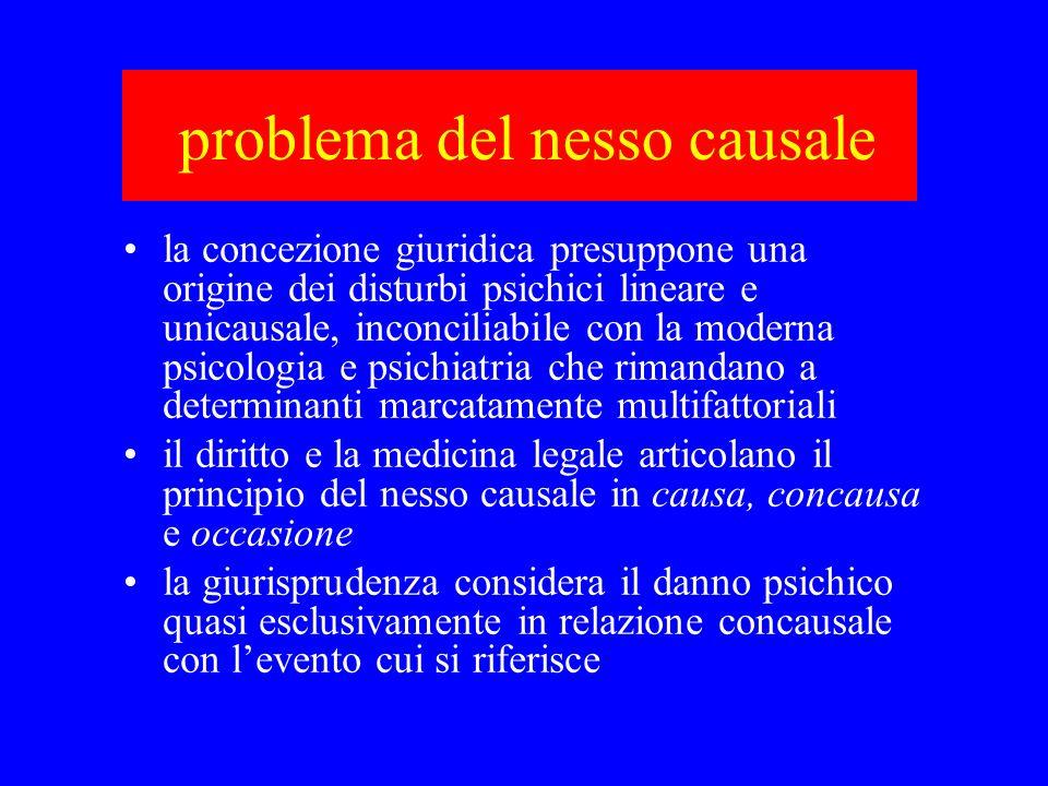 problema del nesso causale