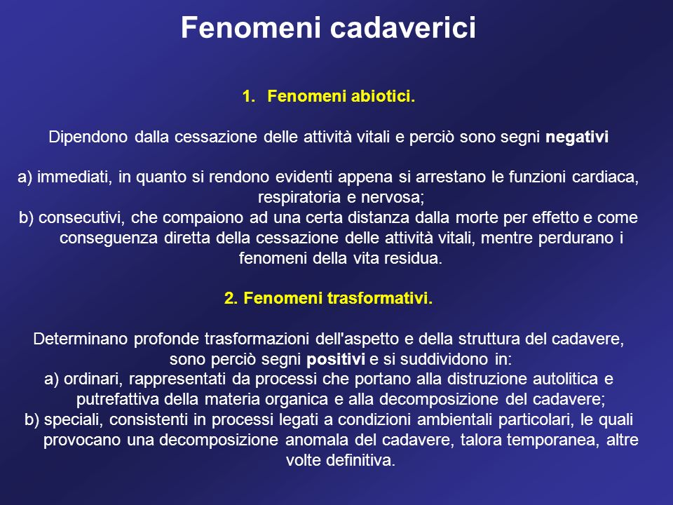 2. Fenomeni trasformativi.