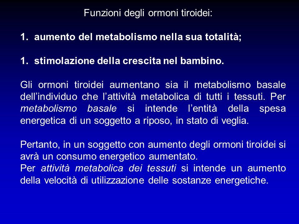 Funzioni degli ormoni tiroidei: