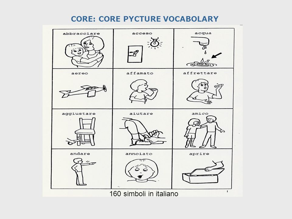 CORE: CORE PYCTURE VOCABOLARY