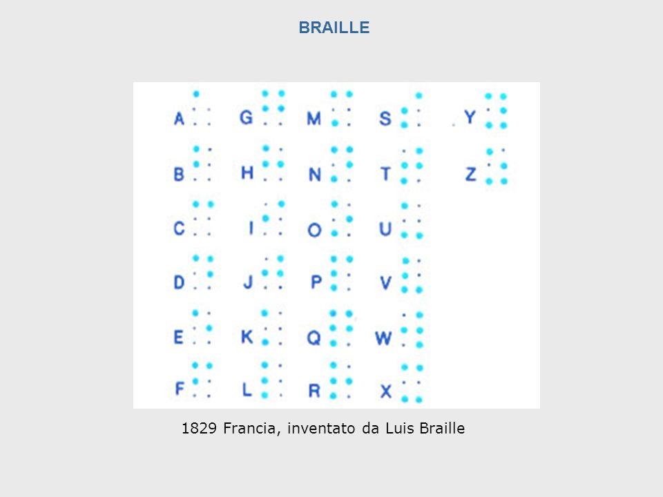 1829 Francia, inventato da Luis Braille