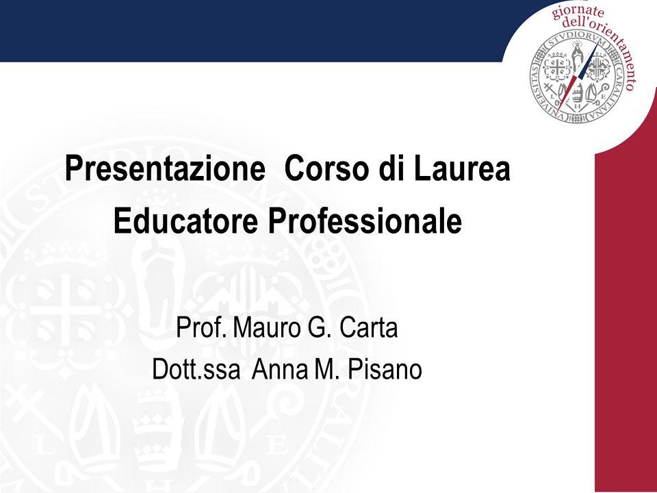Presentazione Corso di Laurea Educatore Professionale