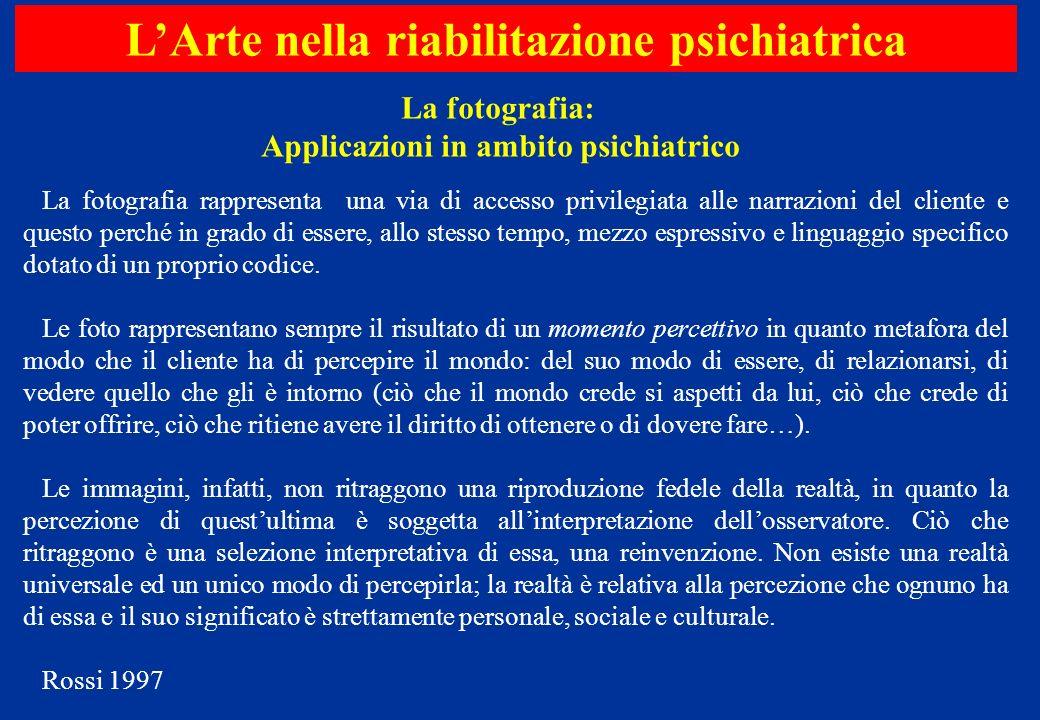 L'Arte nella riabilitazione psichiatrica