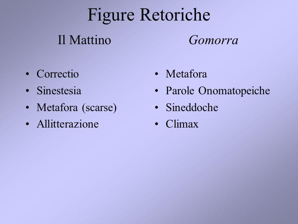 Figure Retoriche Il Mattino Gomorra Correctio Sinestesia
