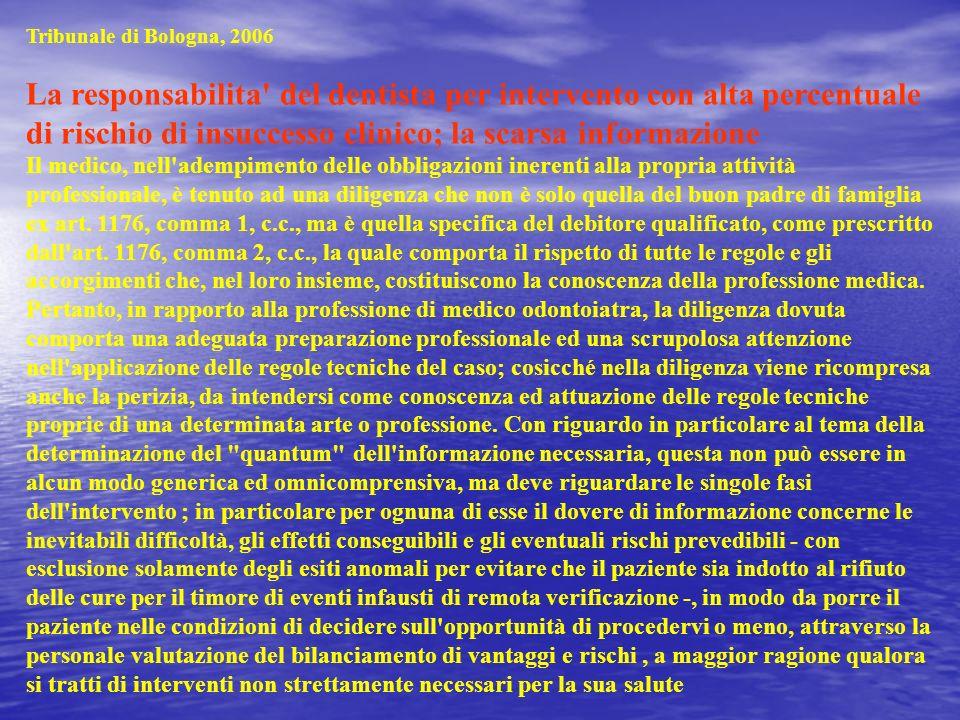 Tribunale di Bologna, 2006