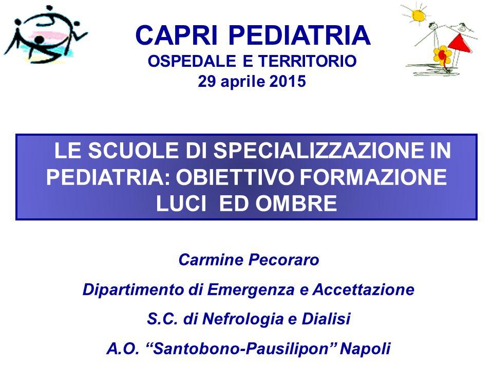 CAPRI PEDIATRIA OSPEDALE E TERRITORIO 29 aprile 2015.