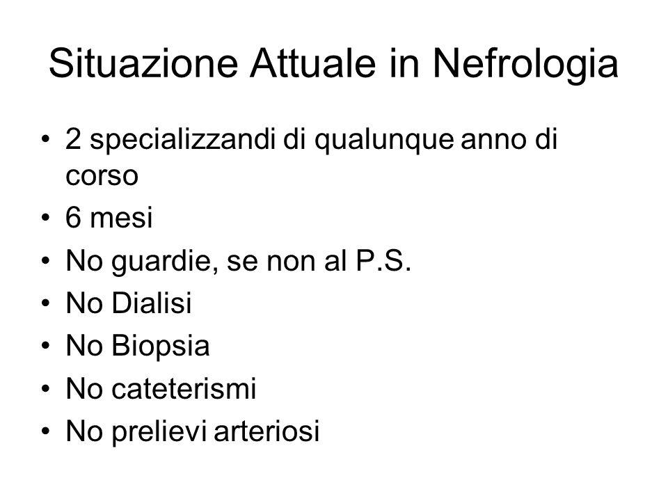 Situazione Attuale in Nefrologia