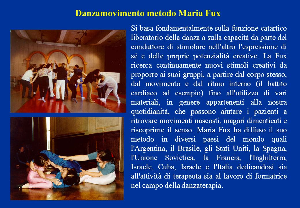 Danzamovimento metodo Maria Fux