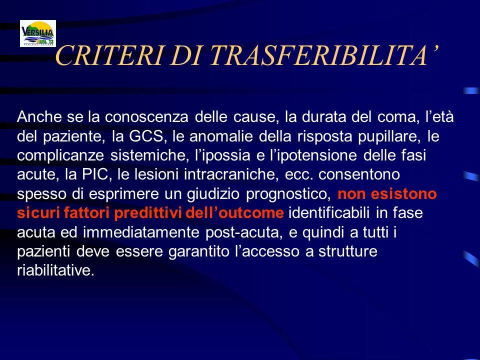 CRITERI DI TRASFERIBILITA'