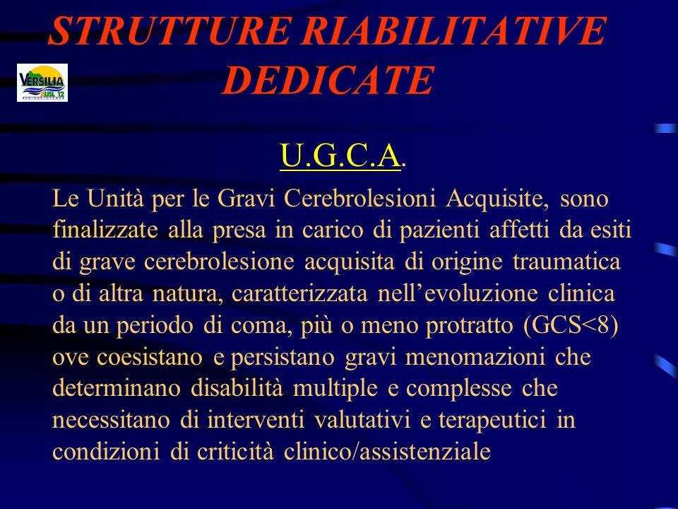STRUTTURE RIABILITATIVE DEDICATE