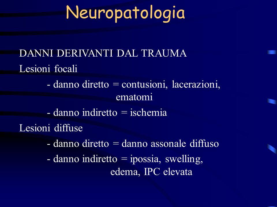Neuropatologia DANNI DERIVANTI DAL TRAUMA Lesioni focali