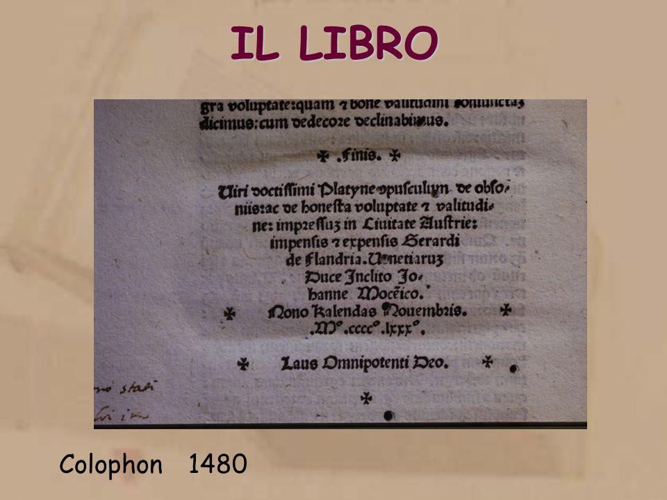 IL LIBRO Colophon 1480