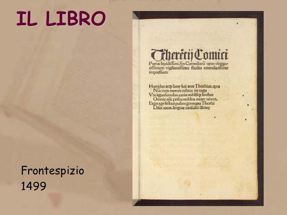 IL LIBRO Frontespizio 1499