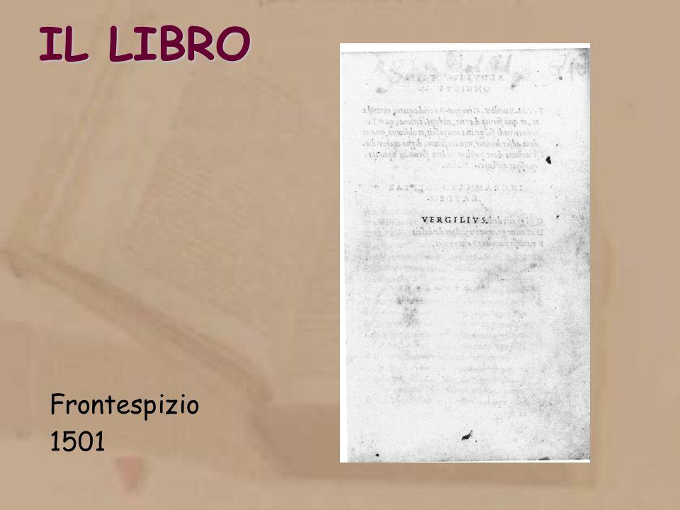 IL LIBRO Frontespizio 1501