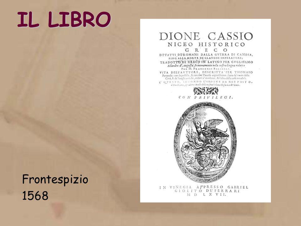 IL LIBRO Frontespizio 1568