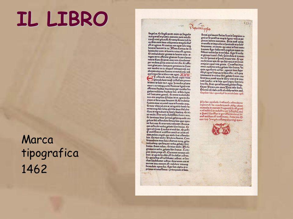 IL LIBRO Marca tipografica 1462