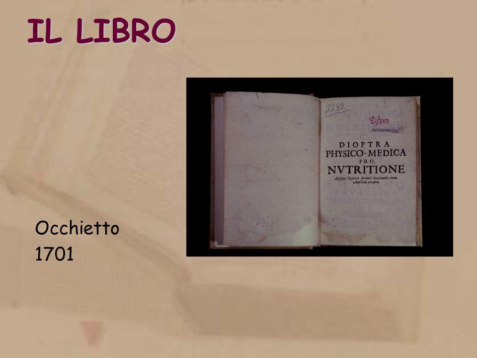 IL LIBRO Occhietto 1701