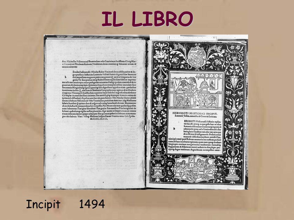 IL LIBRO Incipit 1494