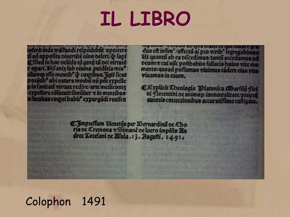 IL LIBRO Colophon 1491