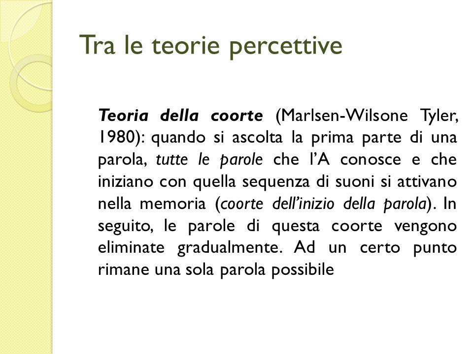 Tra le teorie percettive