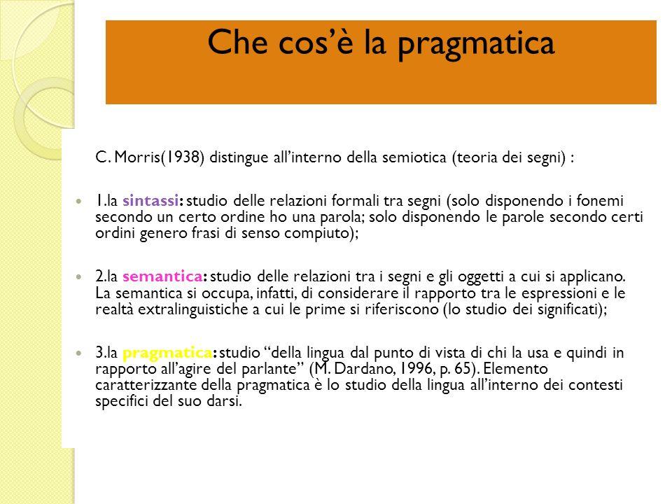 Che cos'è la pragmatica