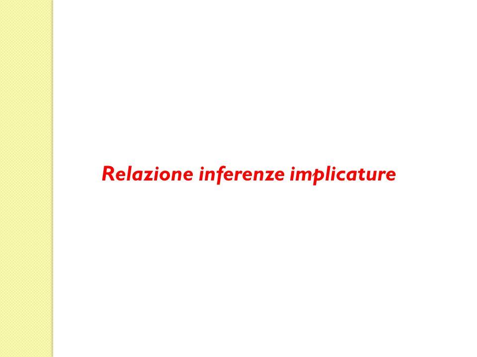 Relazione inferenze implicature