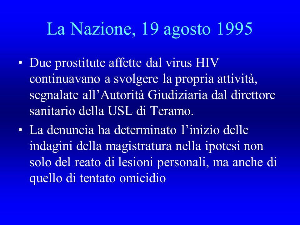 La Nazione, 19 agosto 1995