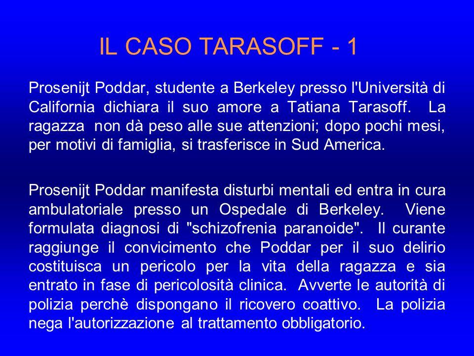 IL CASO TARASOFF - 1