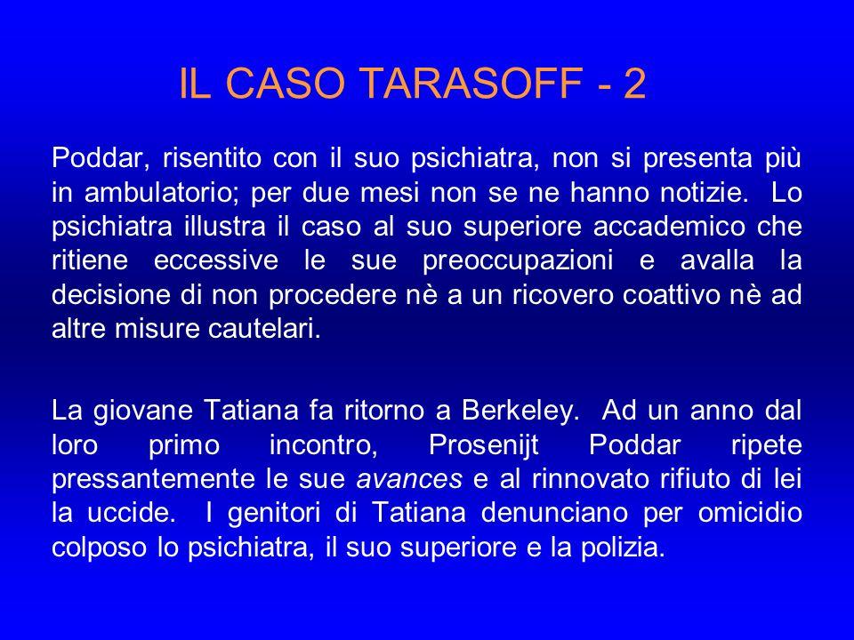IL CASO TARASOFF - 2