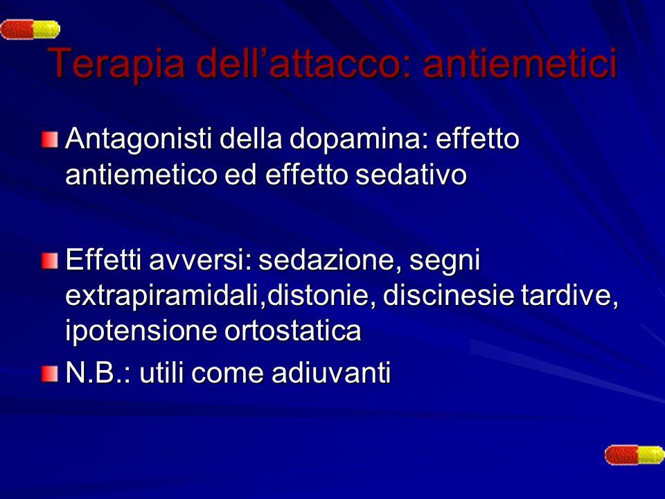 Terapia dell'attacco: antiemetici
