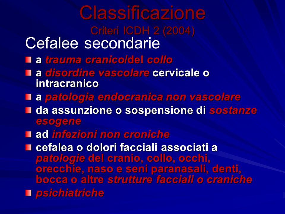 Classificazione Criteri ICDH 2 (2004)