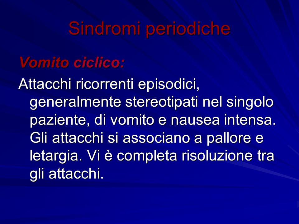 Sindromi periodiche Vomito ciclico: