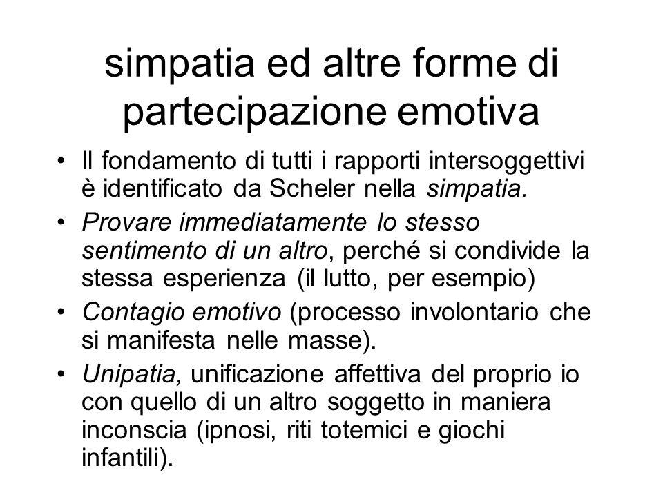 simpatia ed altre forme di partecipazione emotiva