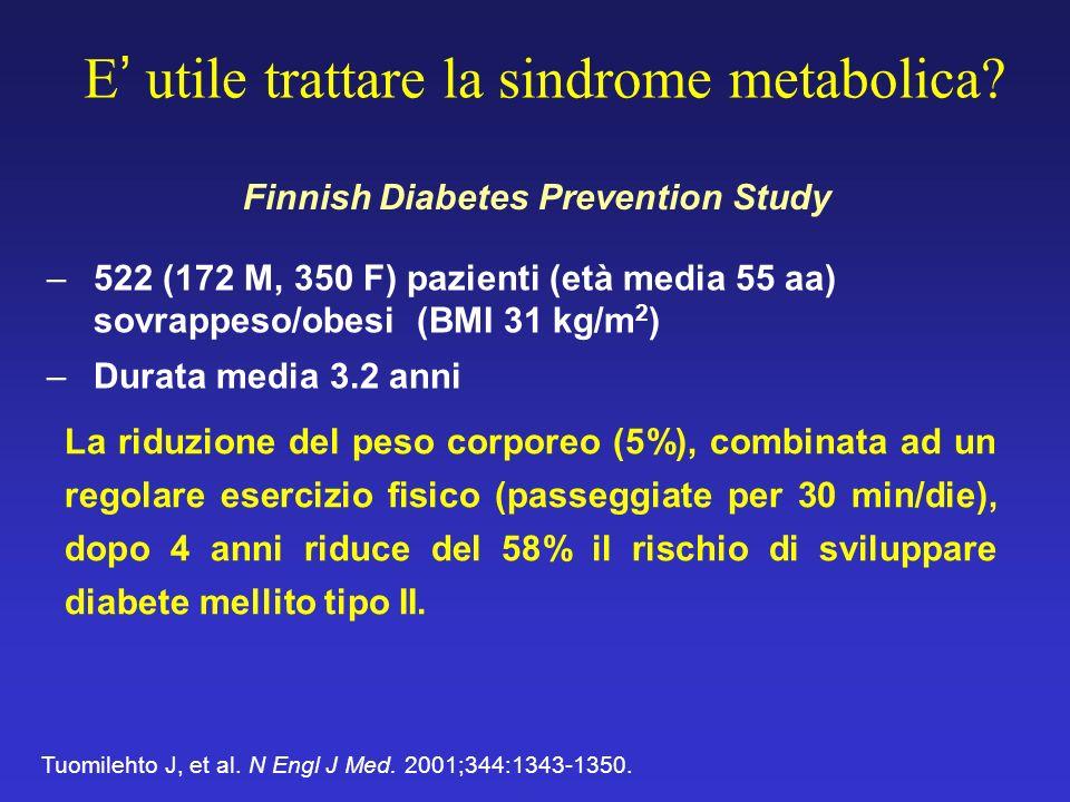E' utile trattare la sindrome metabolica