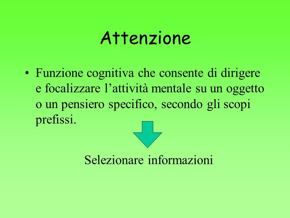 Selezionare informazioni