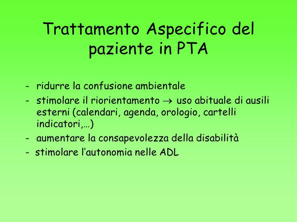 Trattamento Aspecifico del paziente in PTA