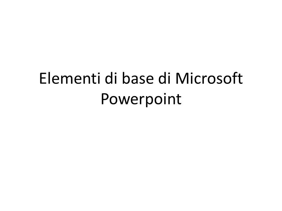 Elementi di base di Microsoft Powerpoint