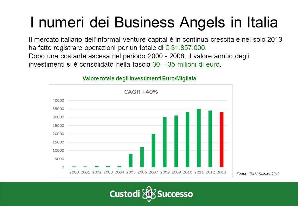 Valore totale degli investimenti Euro/Migliaia
