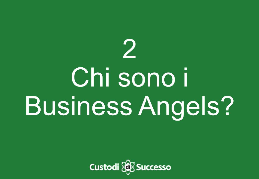 2 Chi sono i Business Angels