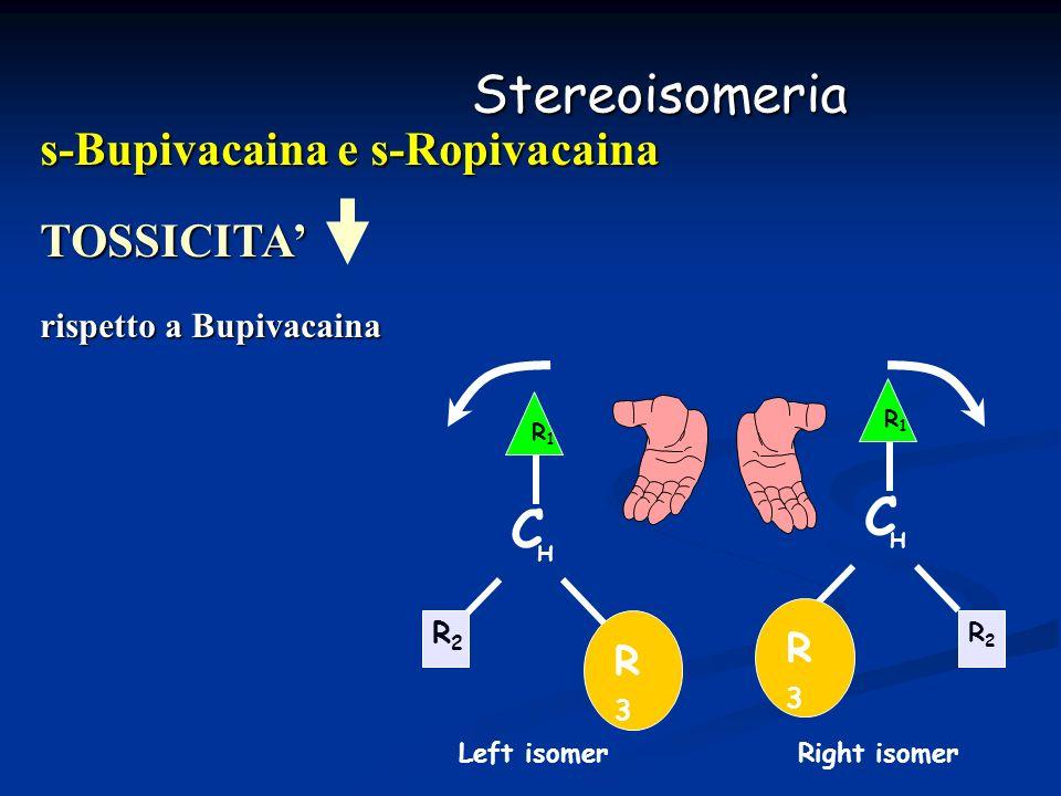 Stereoisomeria C s-Bupivacaina e s-Ropivacaina TOSSICITA' R3