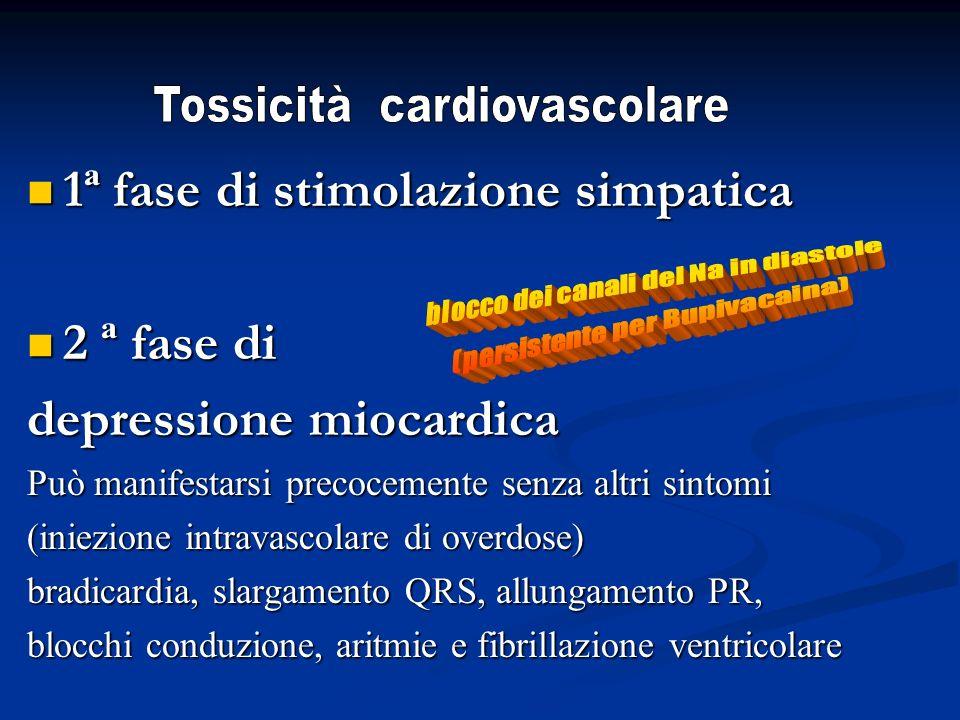 1ª fase di stimolazione simpatica 2 ª fase di depressione miocardica