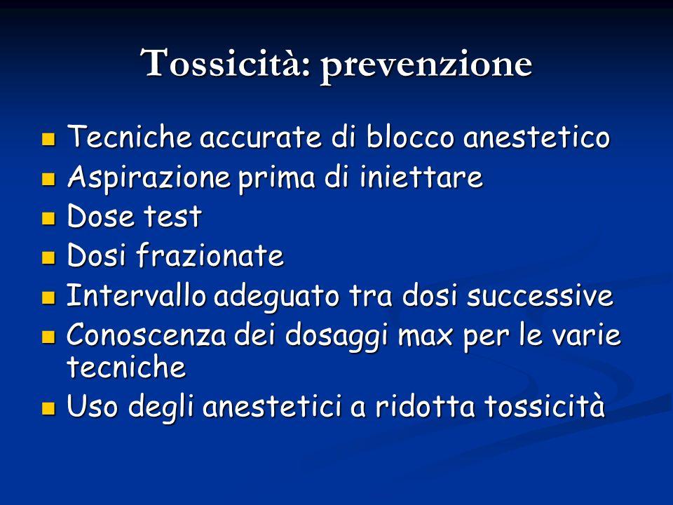 Tossicità: prevenzione