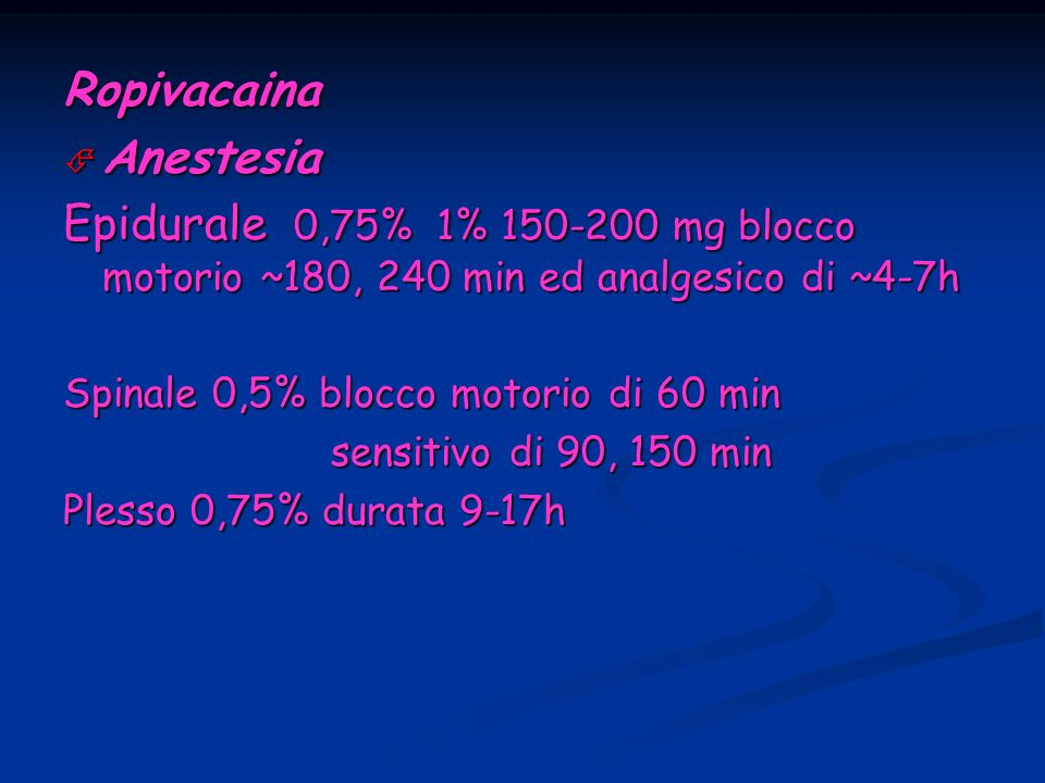 Ropivacaina Anestesia