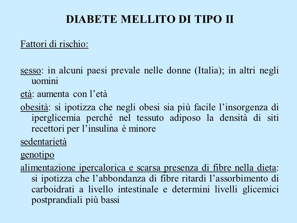 DIABETE MELLITO DI TIPO II